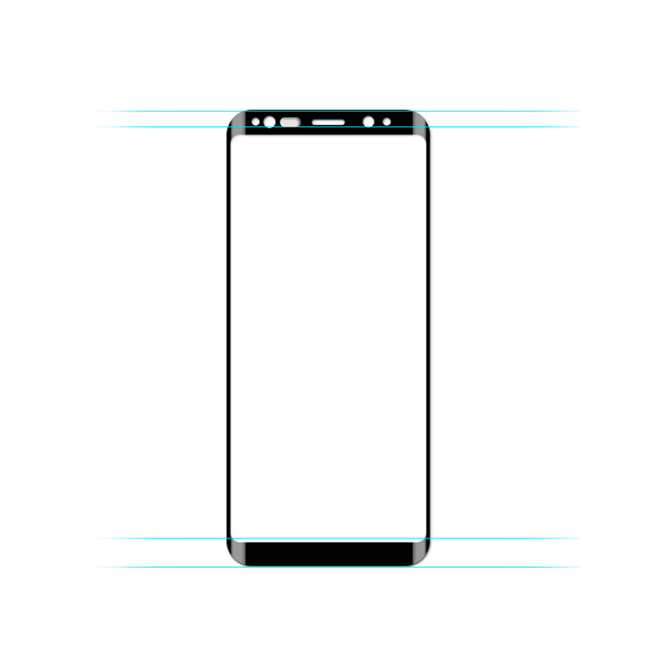 Szkło hartowane 3D MOCOLO dla Samsung Galaxy S9 PLUS - ramka w kolorze czarnym - Główne cechy produktu: