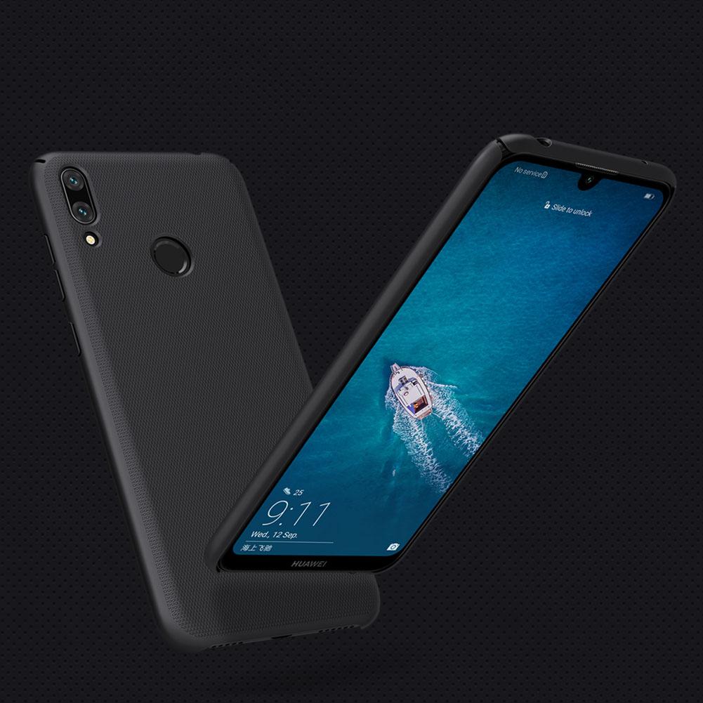 Etui Nillkin Frosted Shield dla Huawei Y7 2019 / Y7 Prime 2019 - Doskonale leży w dłoni
