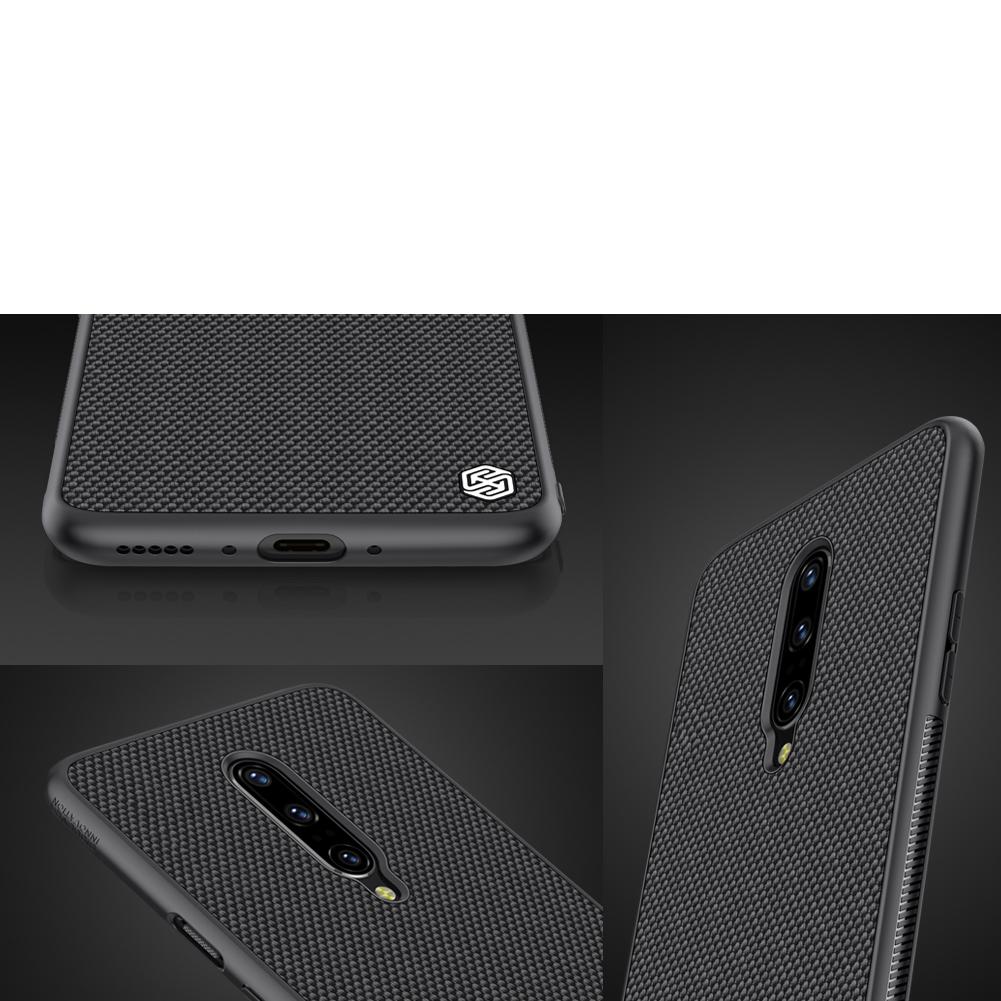 Etui Nillkin Textured dla OnePlus 7 Pro - Ochrona rantów urządzenia