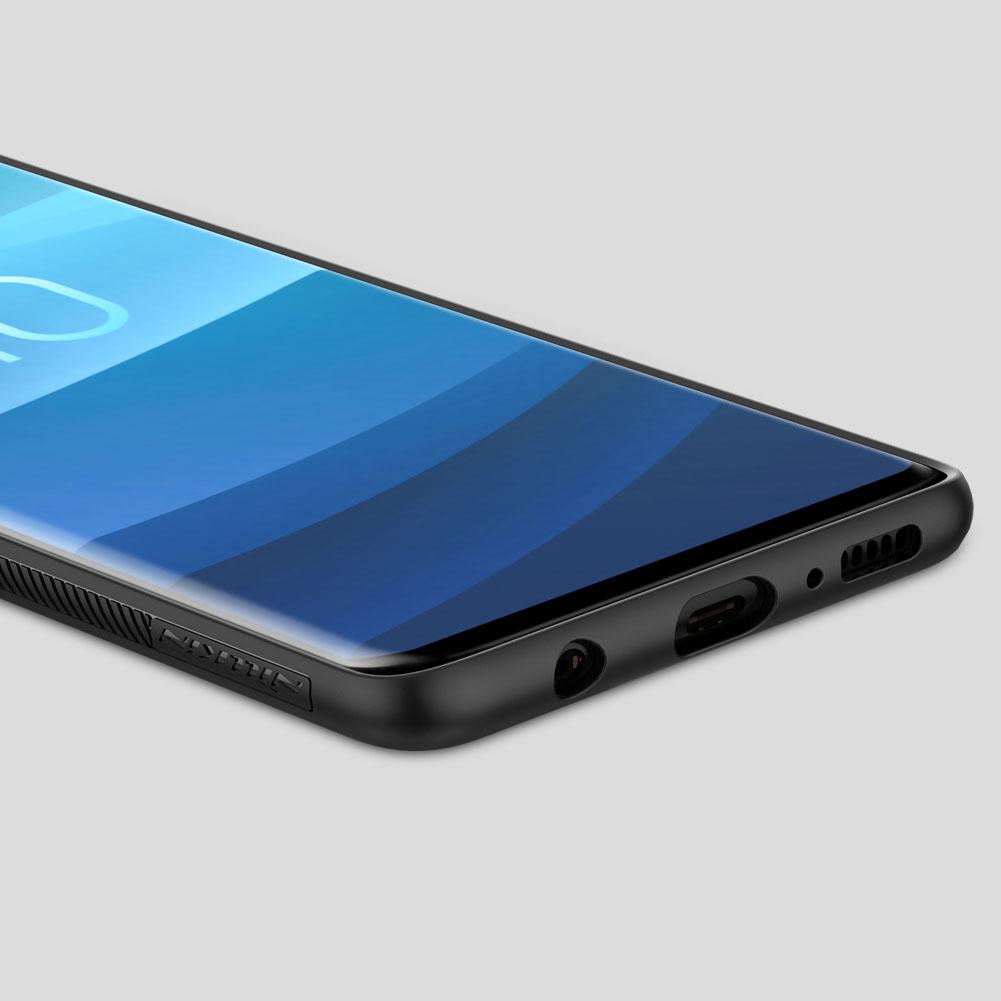 Etui Nillkin Synthetic Fiber dla Samsung Galaxy S10 - Geometryczne wzory - stylowe oraz ponadczasowe