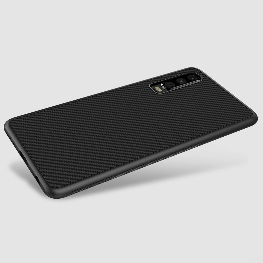 Etui Nillkin Synthetic Fiber dla Huawei P30 - Wysokiej jakości włókno węglowe