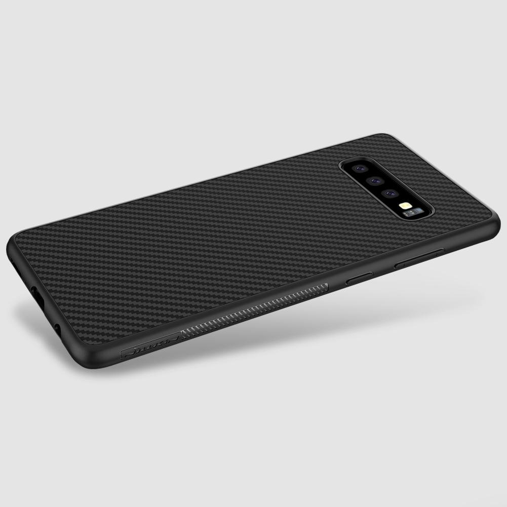 Etui Nillkin Synthetic Fiber dla Samsung Galaxy S10 Plus - Wysokiej jakości włókno węglowe