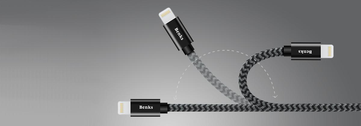 Kabel BENKS Amber Lightning MFI 25 cm - Główne cechy produktu