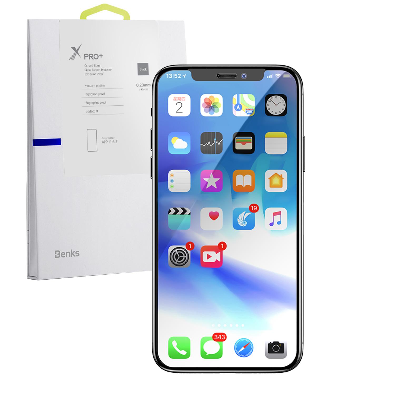 Szkło hartowane BENKS X PRO+ 3D dla Apple iPhone XS MAX -