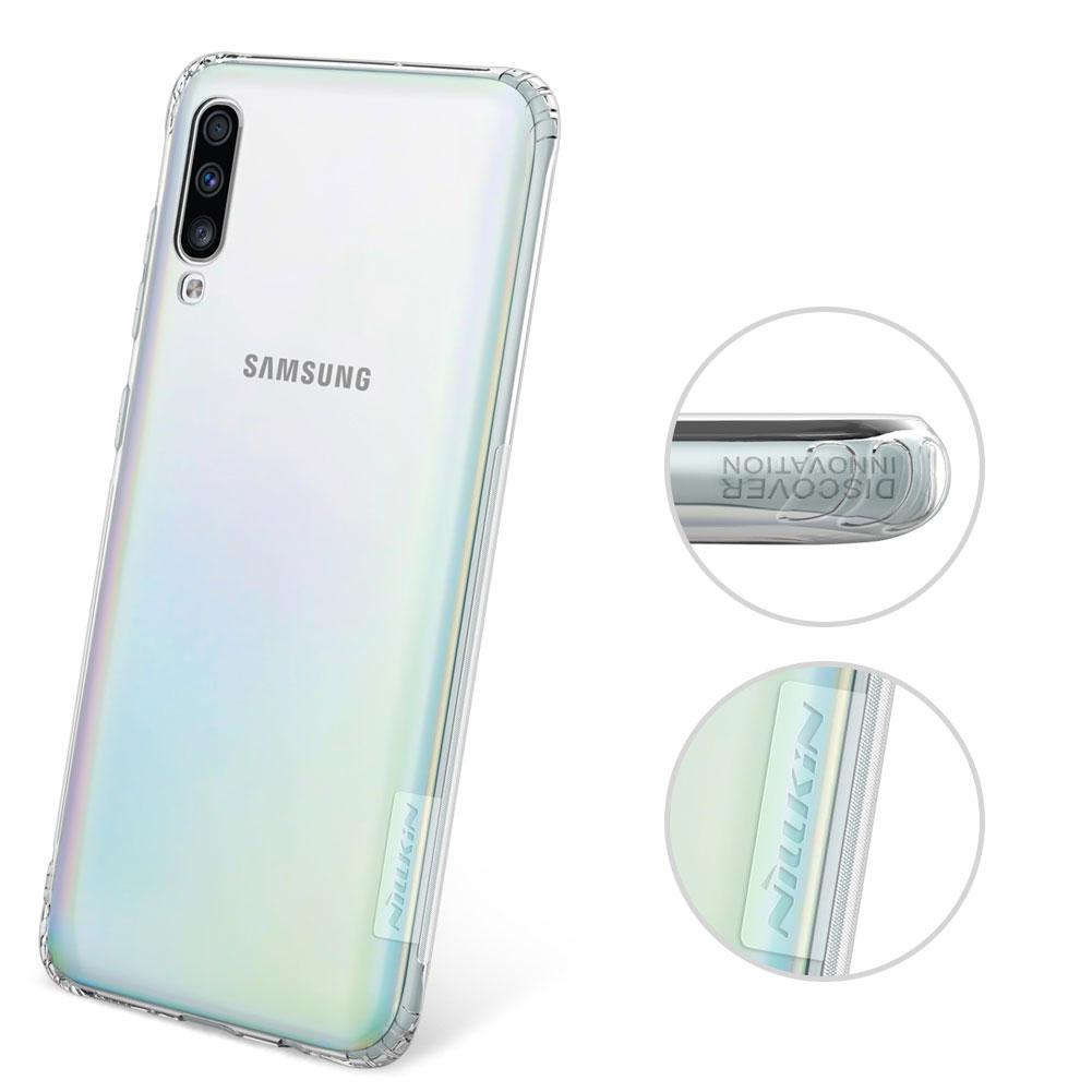 Etui Nillkin Nature dla Samsung Galaxy A70 - Antypoślizgowe elementy ułatwiające chwyt