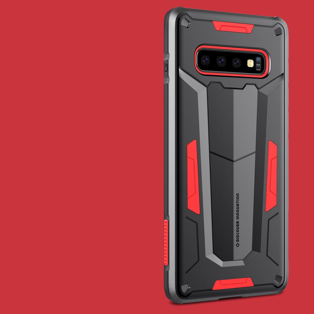 Etui Pancerne Nillkin Defender II dla Samsung Galaxy S10 PLUS - Produkt powstał z połączenia dwóch materiałów, wytrzymałego poliwęglanu oraz elastycznego TPU