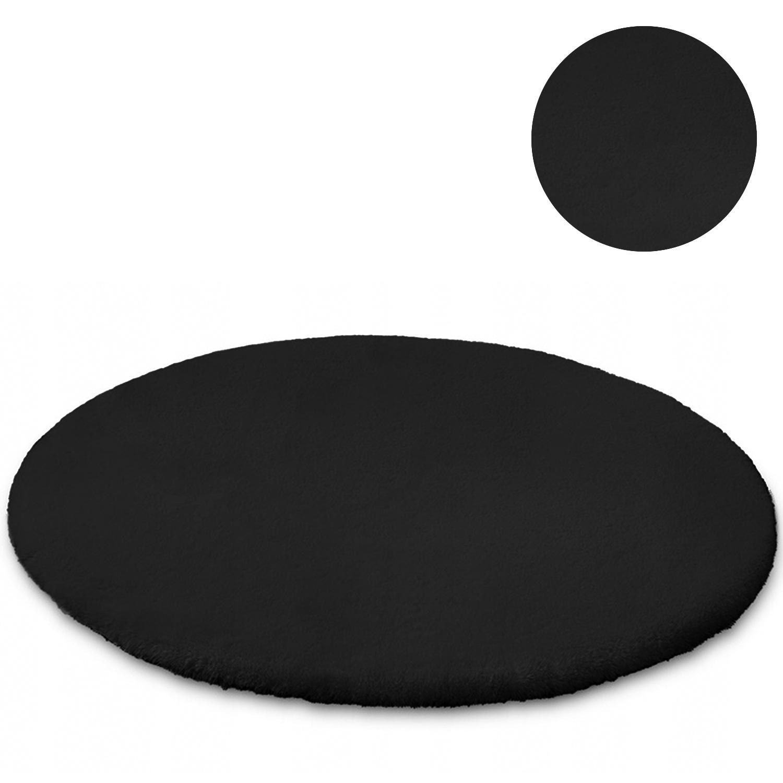 Dywan okrągły Rabbit Strado 180x180 Black (Czarny)
