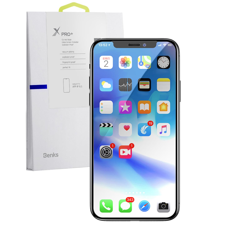 Szkło hartowane BENKS X PRO+ 3D dla Apple iPhone XR -