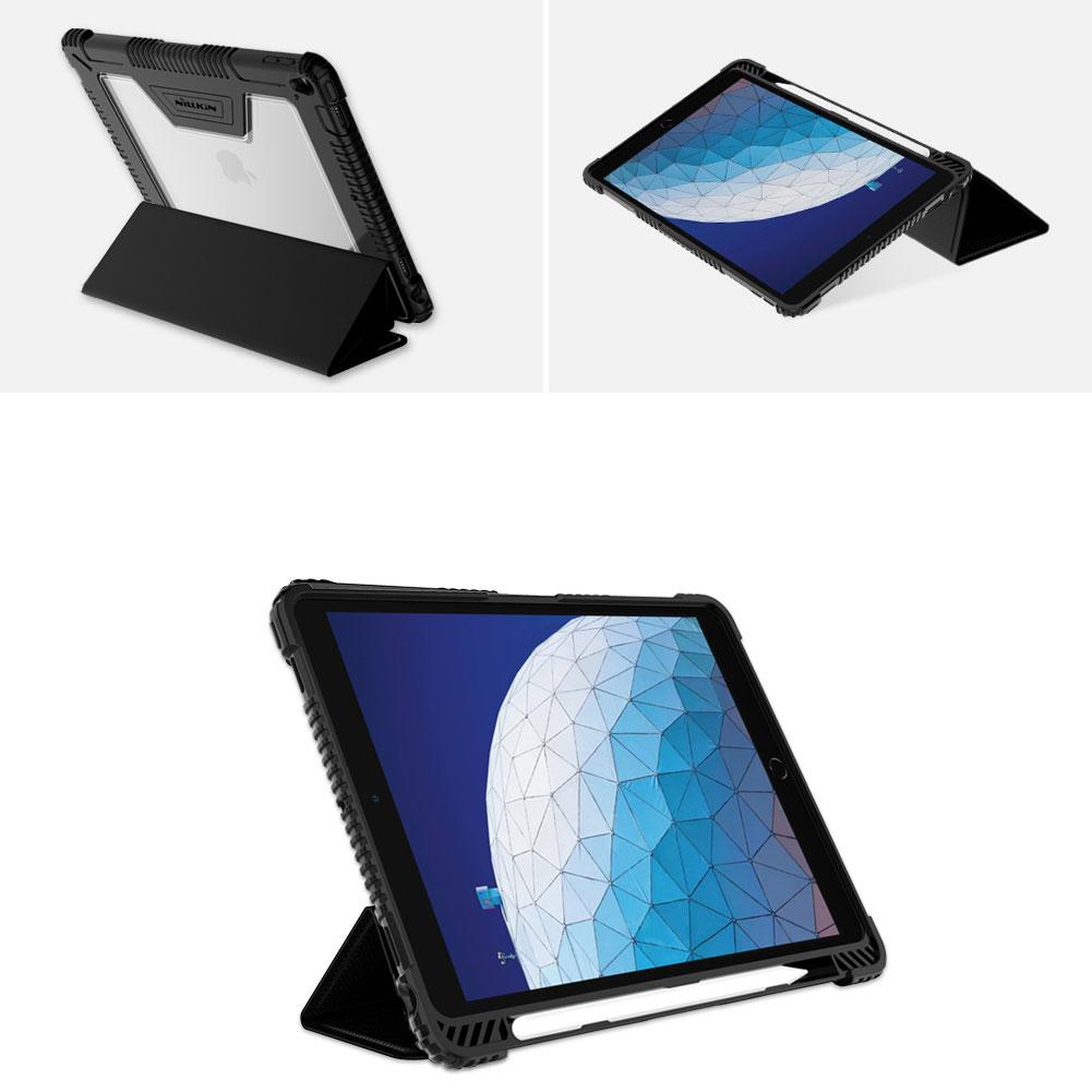 Etui Nillkin Bumper dla Apple iPad Air 2019 / 10.5 2017 - Wzmacniane ranty oraz gniazdo aparatu