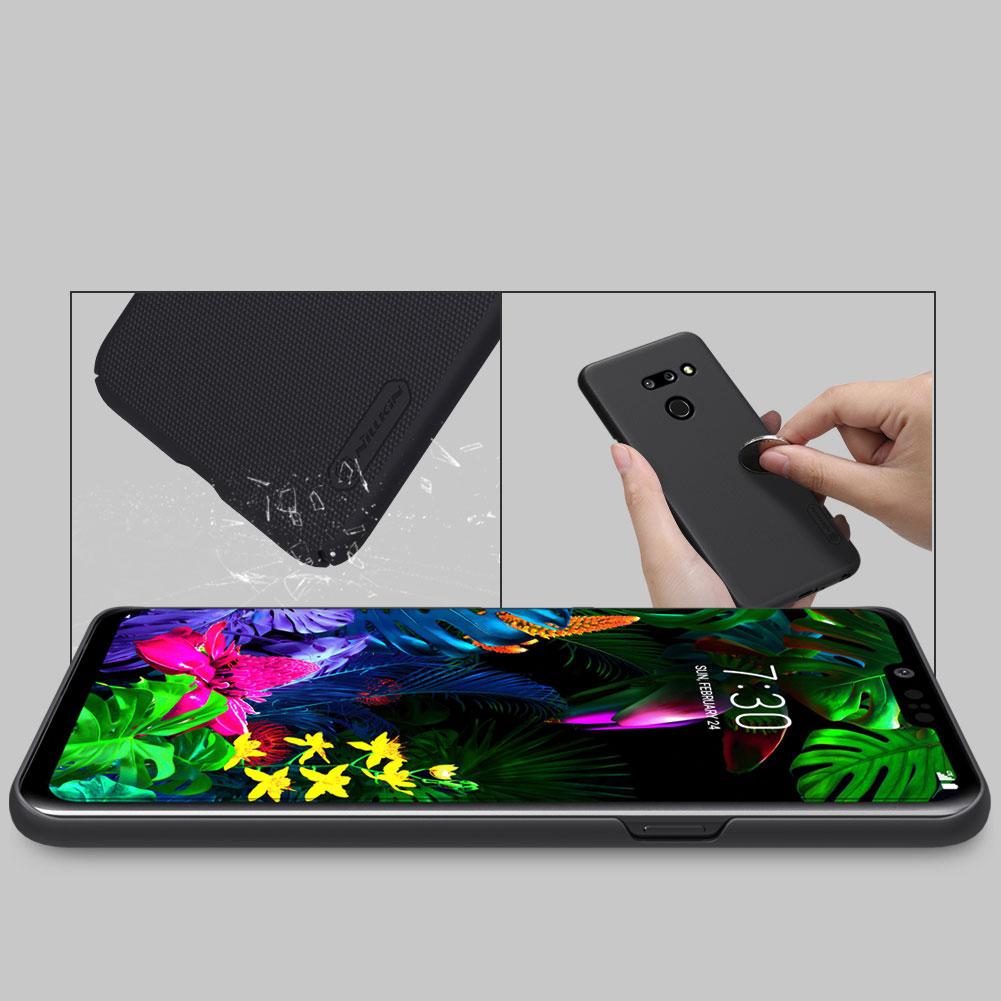Etui Nillkin Frosted Shield dla LG G8 ThinQ - Wytrzymałe, odporne, szykowne !