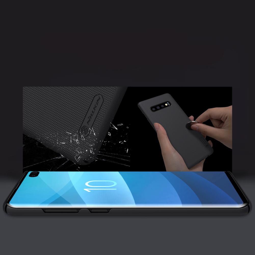 Etui Nillkin Frosted Shield dla Samsung Galaxy S10 Plus - Wytrzymałe, odporne, szykowne !