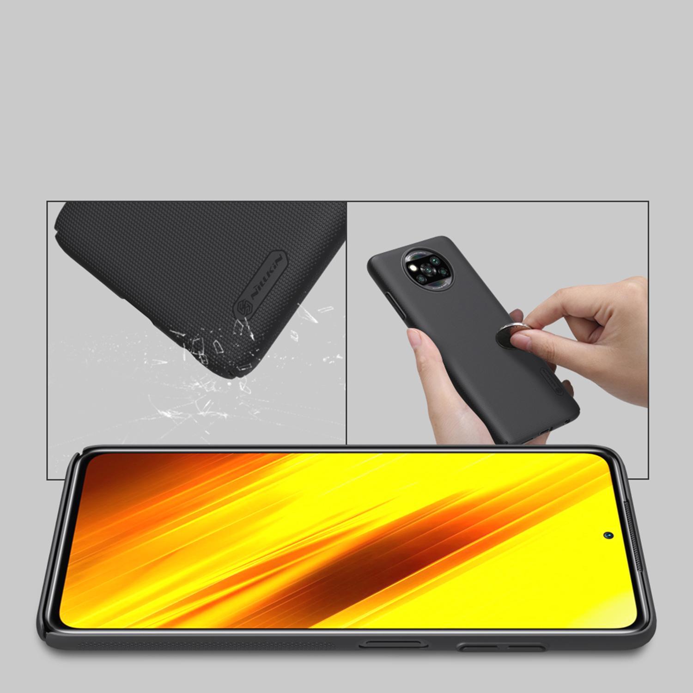 Etui Nillkin Frosted Shield dla Xiaomi Poco X3 NFC/ X3 PRO  - Wytrzymałe, odporne, szykowne !